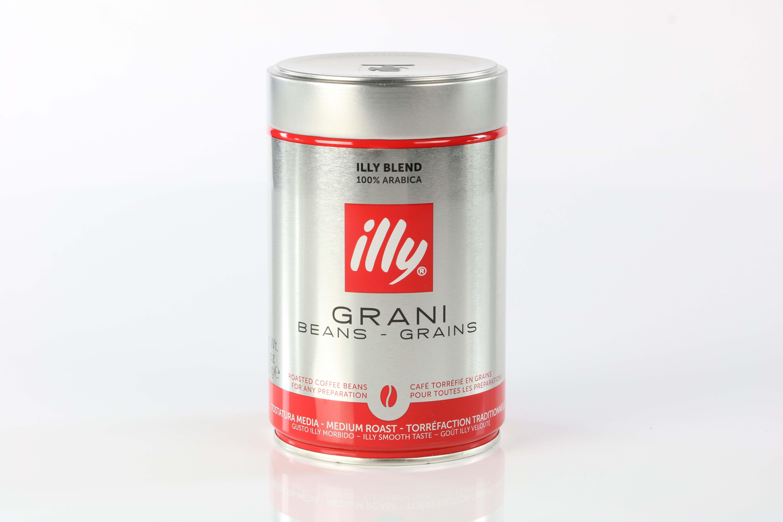 illy espresso bohnen 250g dose mit rotem deckel kaufen bei espressissimo. Black Bedroom Furniture Sets. Home Design Ideas