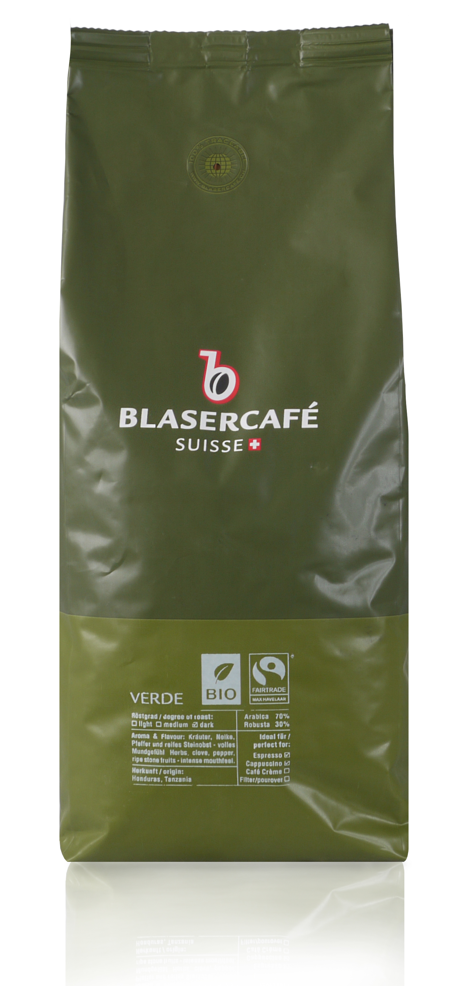 blasercaf verde bio 1kg espresso bohnen. Black Bedroom Furniture Sets. Home Design Ideas