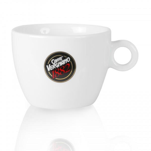 Caffè Vergnano Milchkaffeetasse mit Unterteller