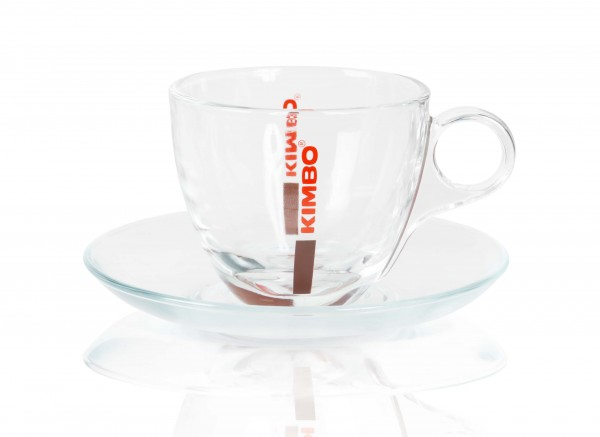 Kimbo Glascappuccinotasse